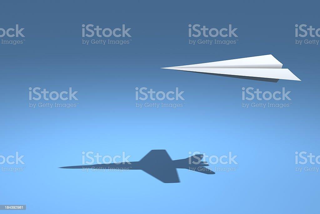F18 avión de papel - foto de stock