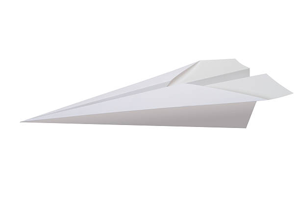 Paper Plane Paper Plane on white. paper airplane stock pictures, royalty-free photos & images