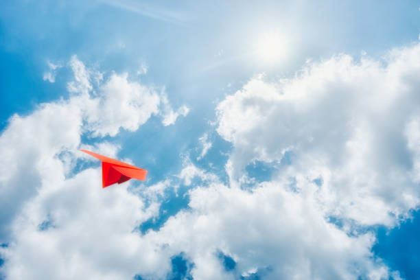 paper plane - paper airplane stock photos and pictures