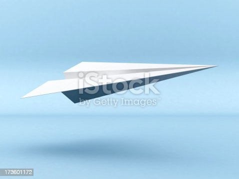 istock 3D Paper Plane take off 173601172
