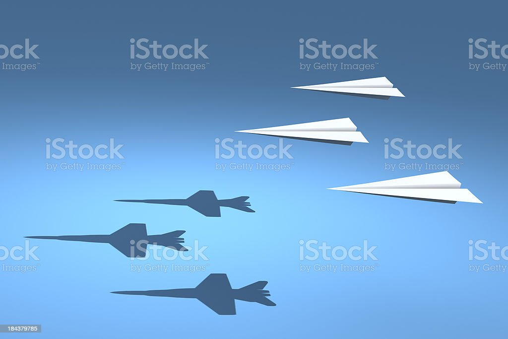 F18 Paper Planes royalty-free stock photo