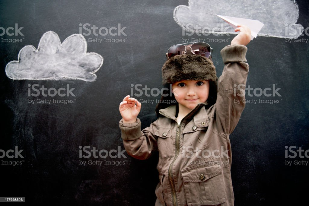 Paper planes today, aeroplanes tomorrow stock photo