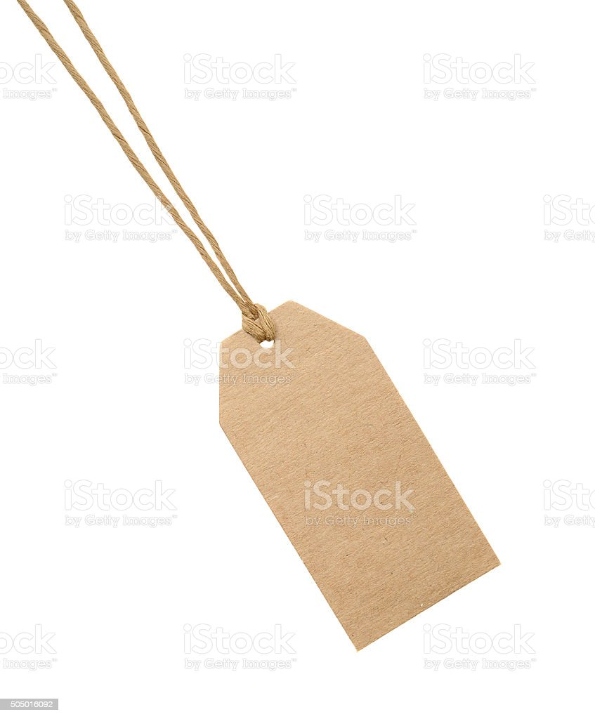 Paper price or sale tag. stock photo
