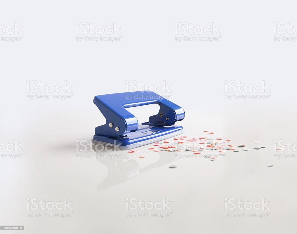 paper punch stock photo
