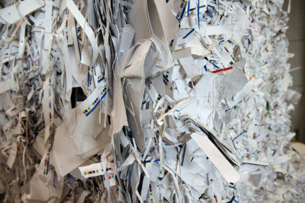 Paper recycling concept stock photo