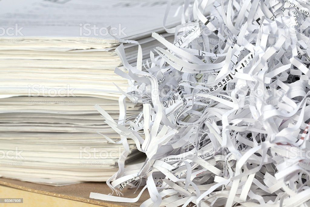 Reciclagem de papel - Foto de stock de Confidential - Palavra inglesa royalty-free