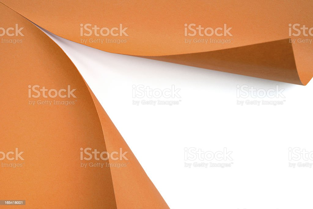 Paper revealing stock photo