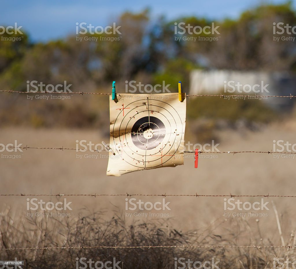 Paper Rifle Target stock photo
