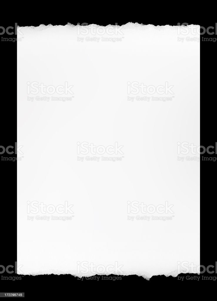 Paper Ripped on the Edge royalty-free stock photo