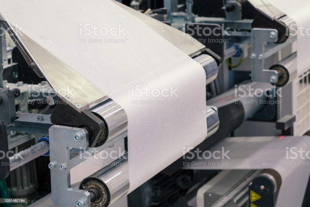 Papiermaschine roll – Foto