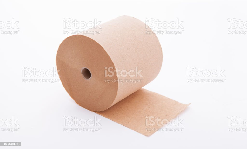 Paper Roll Mock Up Isolated On White Background Blank White