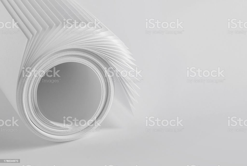 Paper roll royalty-free stock photo