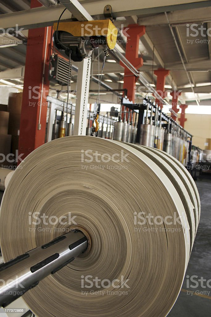 Paper rolls for print stock photo