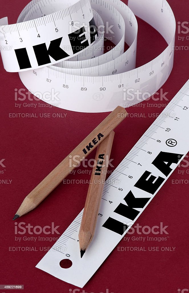 Ikea Papierle ikea paper rulers and pencils stock photo istock