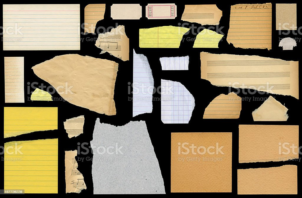 paper scraps royalty-free stock photo