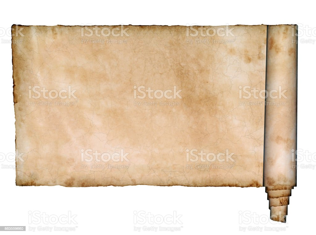 paper scroll isolated stock photo