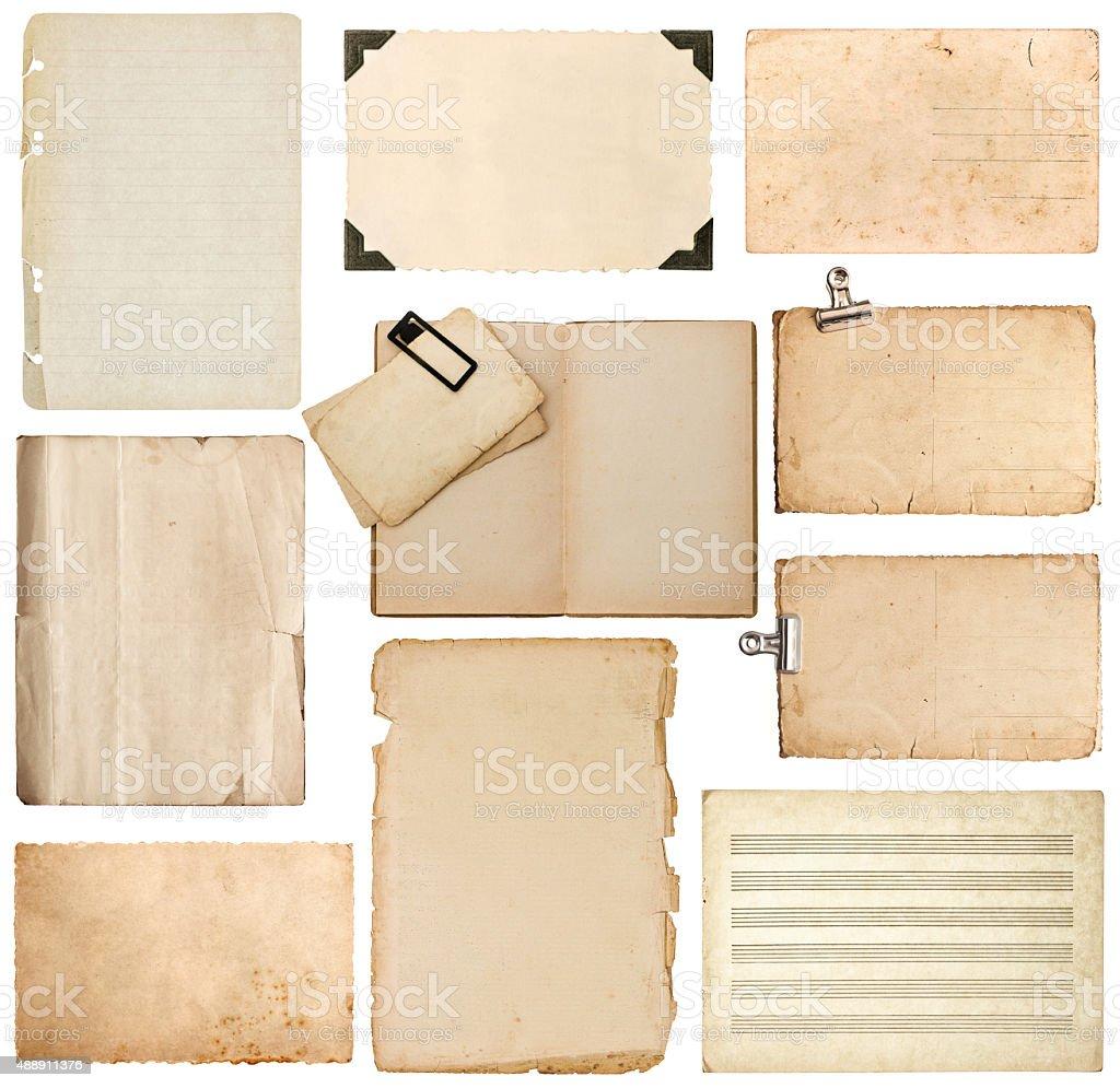Folha de papel, bookpage, papelão, foto frame com canto - foto de acervo