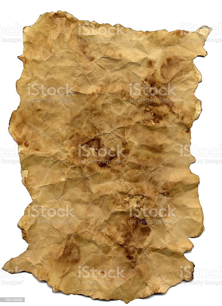 Paper sheet burned royalty-free stock photo