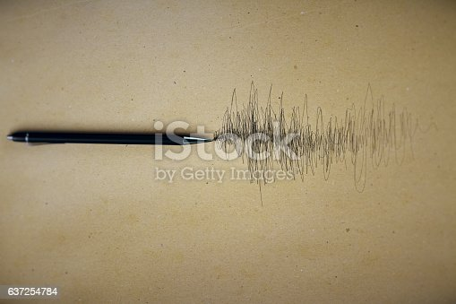 istock Paper sheet with scribble 637254784