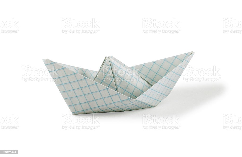 Paper Ship royalty-free stock photo