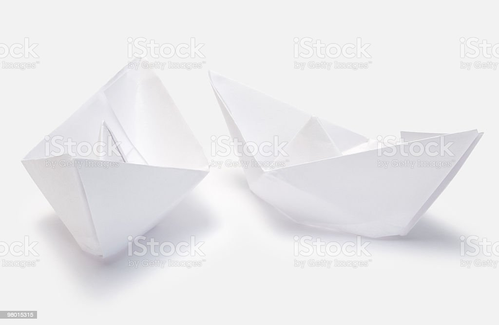 paper ships royalty-free stock photo