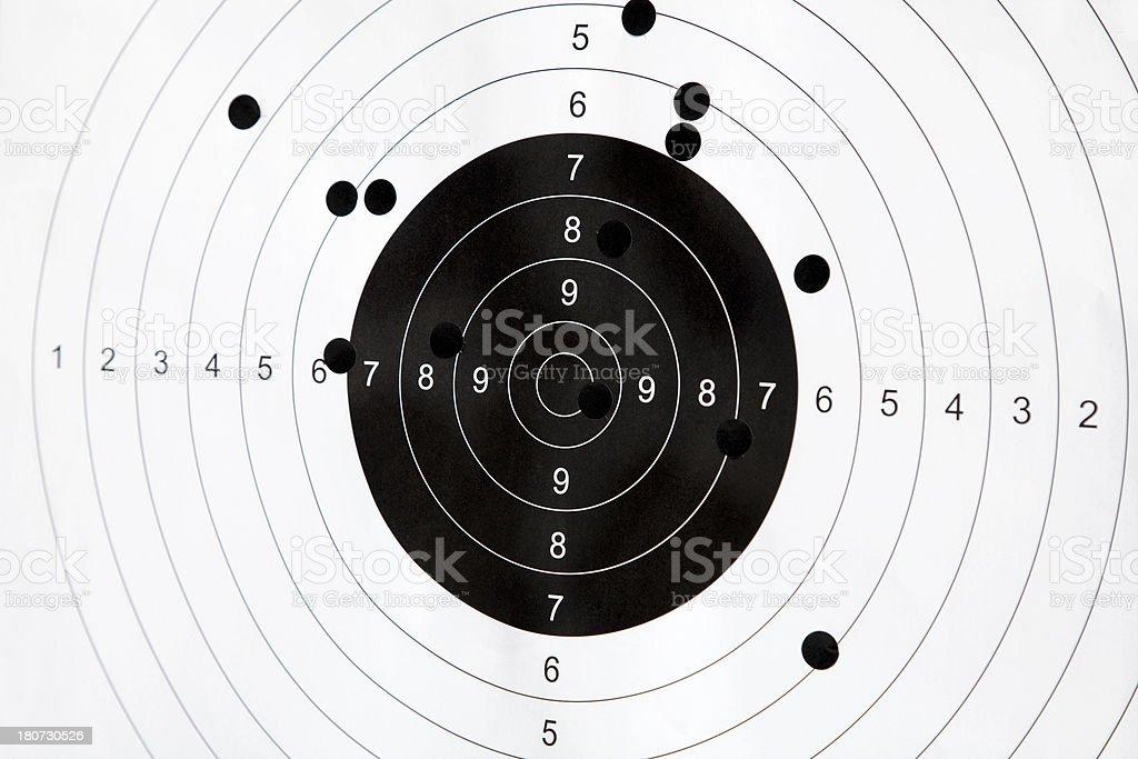 Paper shooting target royalty-free stock photo
