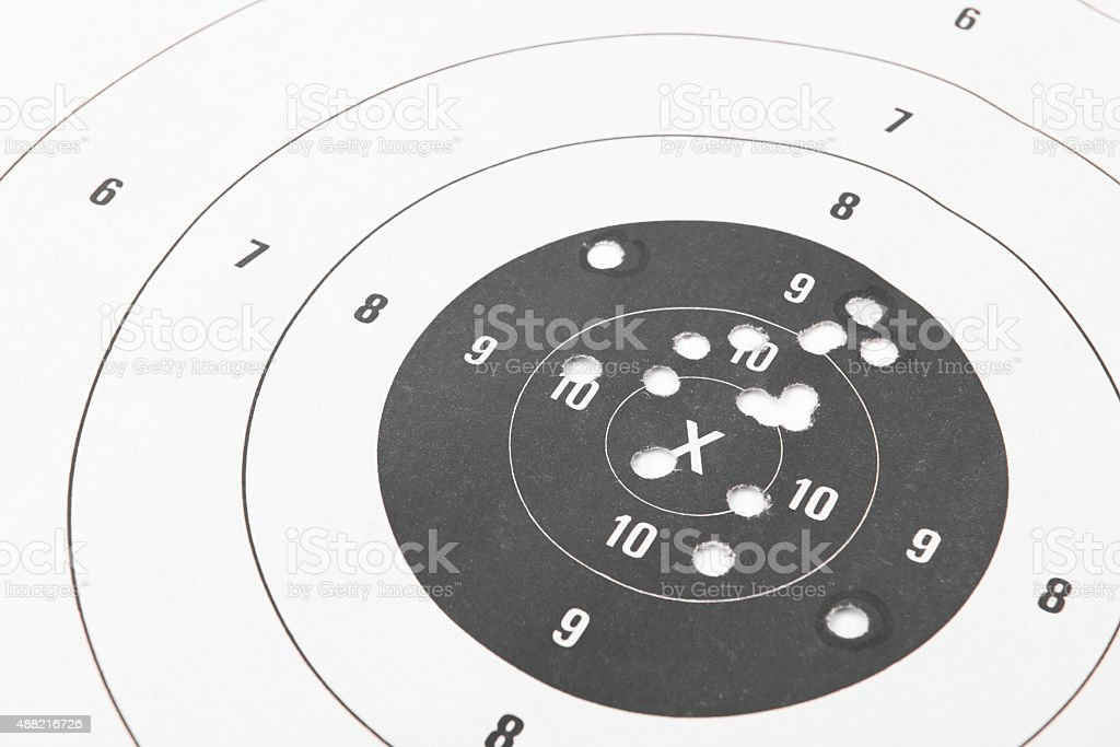 Paper shooting target stock photo