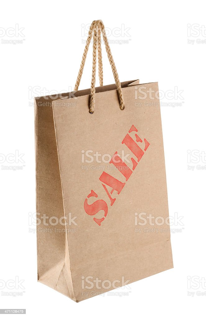 Paper Shopping Bag (Clipping Paths) royalty-free stock photo
