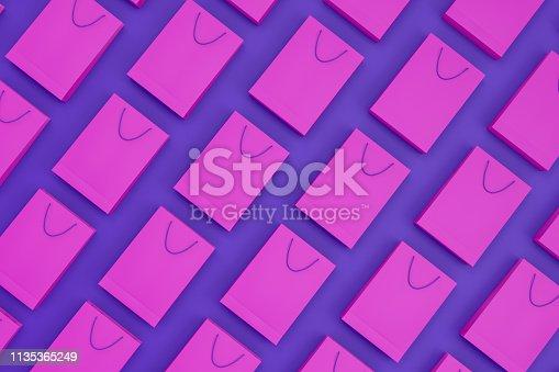istock 3D Paper Shopping Bags, Minimal Design 1135365249