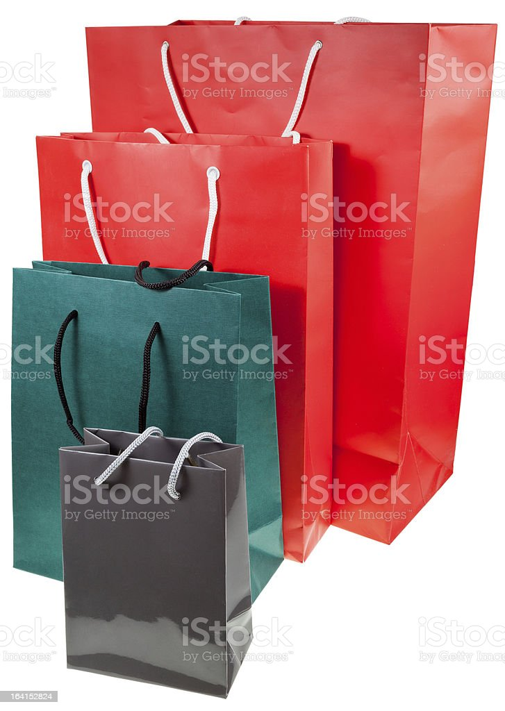 paper shopping bags royalty-free stock photo