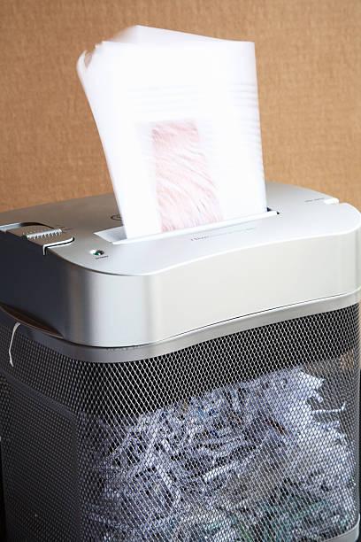 Paper Shredder at Work stock photo