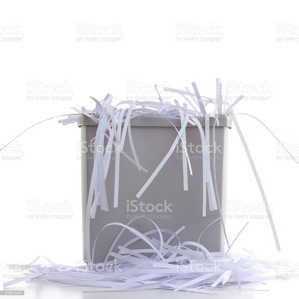 Paper Shredder Stock Photo & More Pictures of Basket - iStock