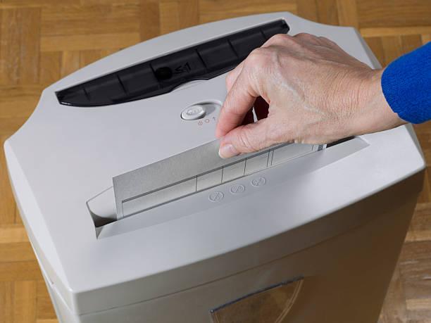 trituradora de papel - desperdício alimentar imagens e fotografias de stock