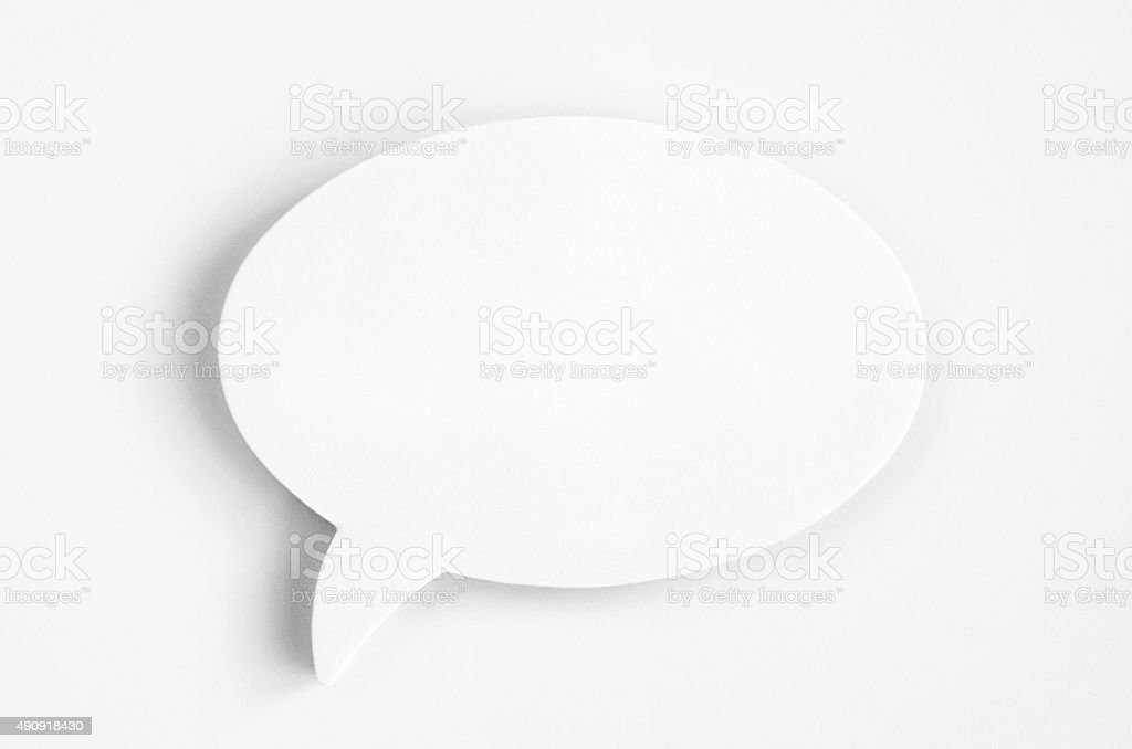 paper speech ballons stock photo