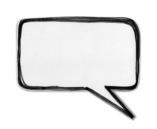 paper speech bubble isolated on white background - thought bubble stock photos and pictures