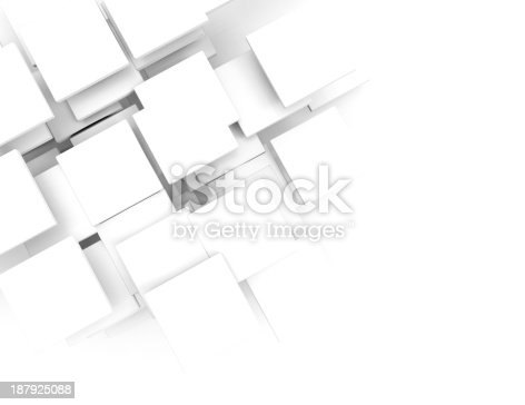 istock Paper square banner with drop shadows on white background. 187925088