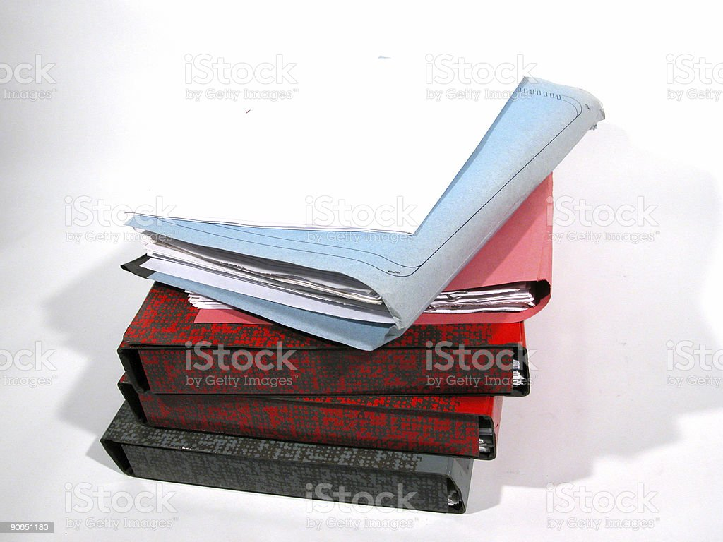 Paper stack - 02 royalty-free stock photo