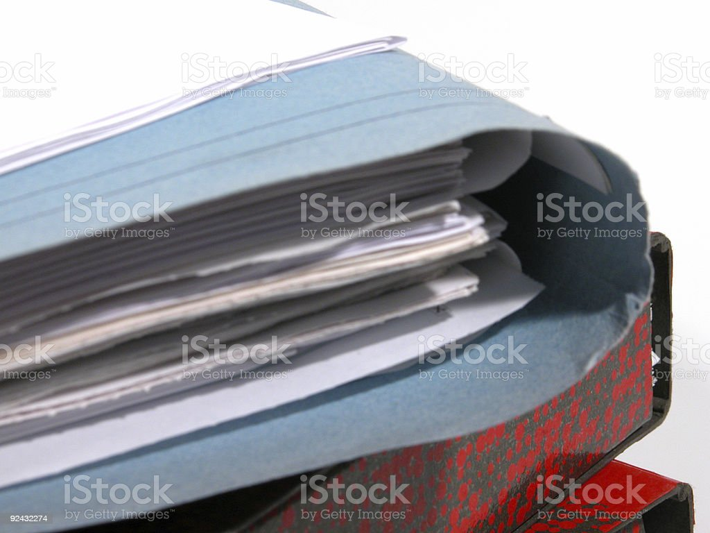 Paper stack - 05 (detail) royalty-free stock photo