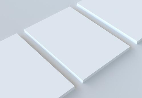 A4 paper stack mockup. 3d rendering.