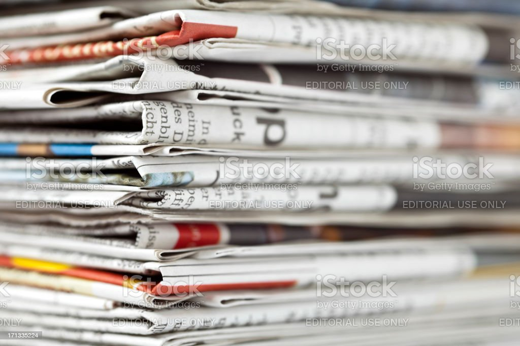 Paper stack. royalty-free stock photo