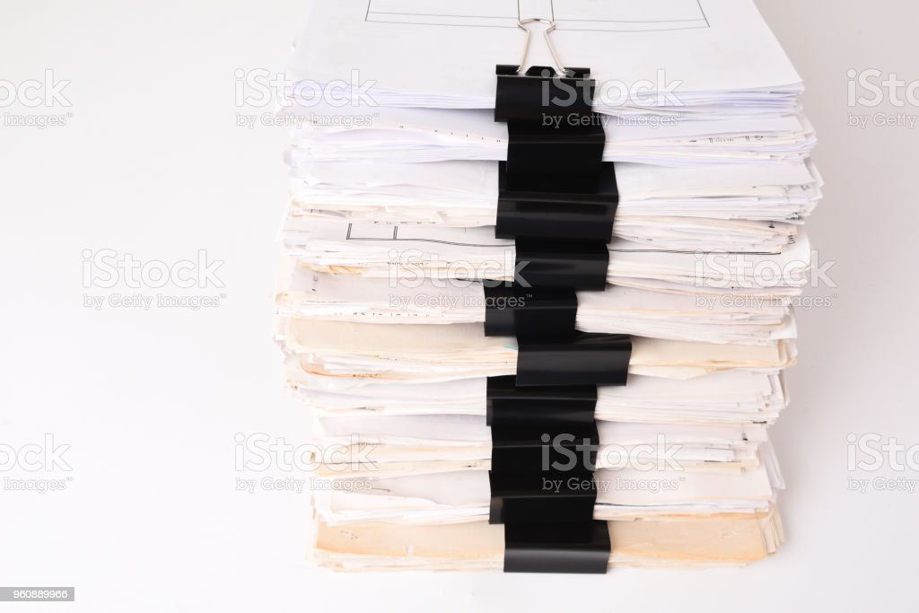Paper stack stock photo