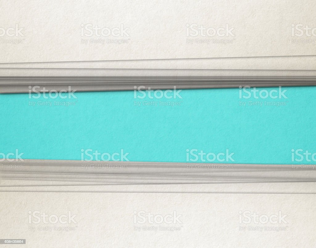 Paper stack with message stock photo