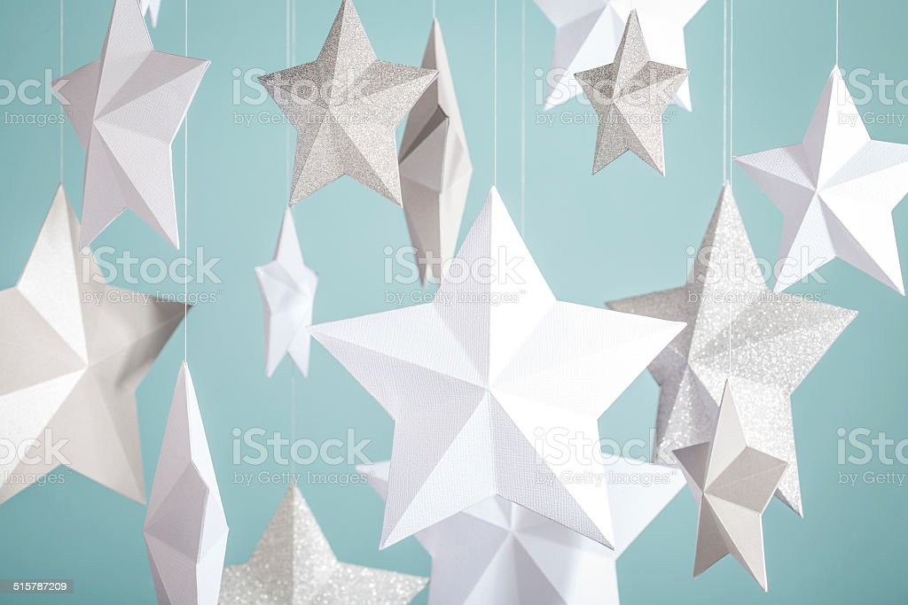 Paper Stars stock photo