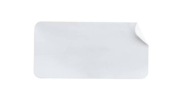 Papieraufkleber-Etikett isoliert auf weißem Hintergrund – Foto