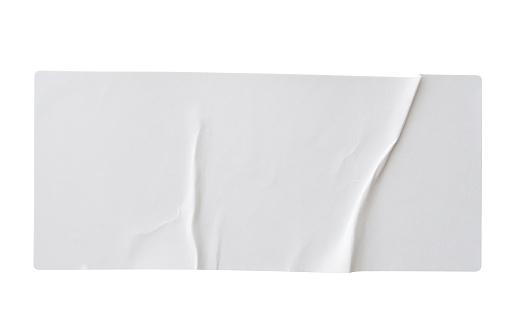 Papieraufkleberetikett Isoliert Auf Weißem Hintergrund Stockfoto und mehr Bilder von Aufkleber