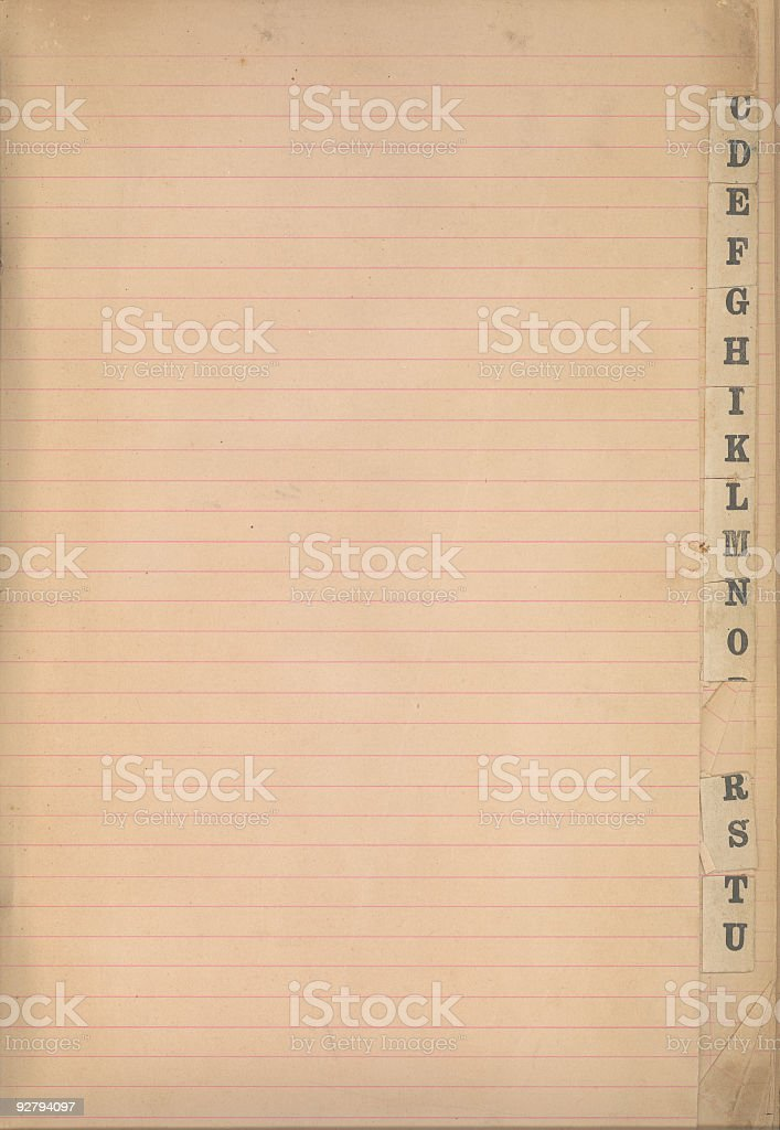 Paper Tabs royalty-free stock photo