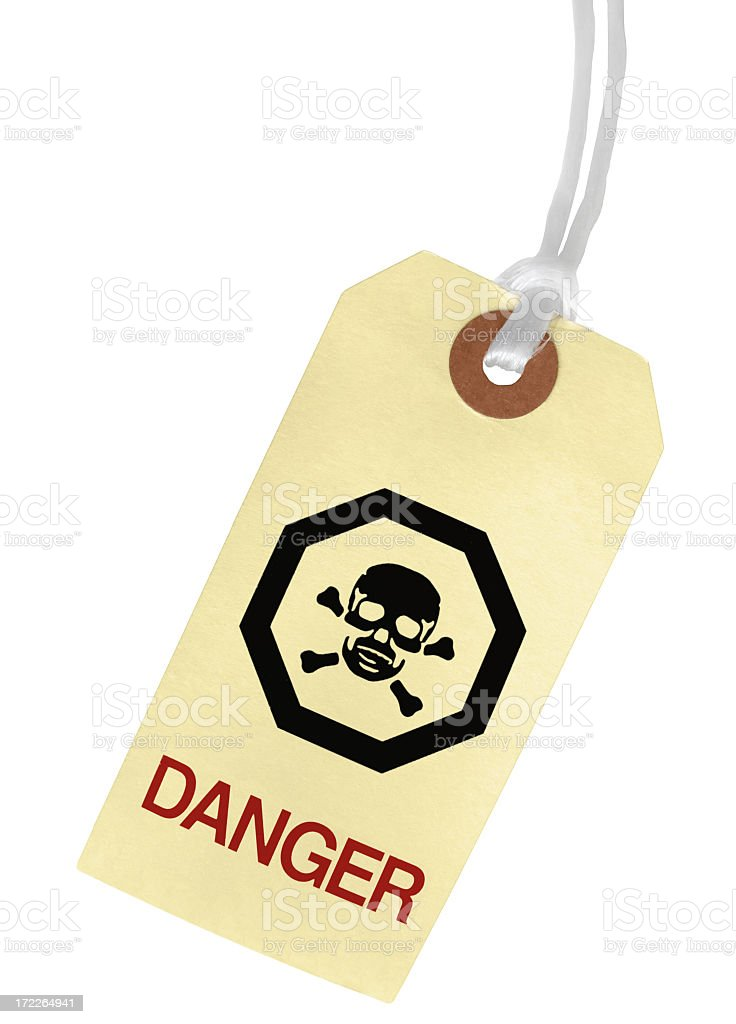 DANGER Paper Tag royalty-free stock photo