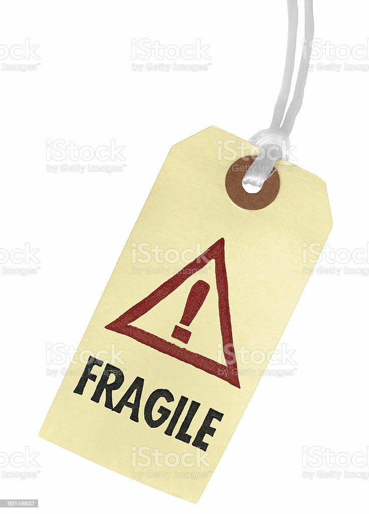 FRAGILE Paper Tag royalty-free stock photo