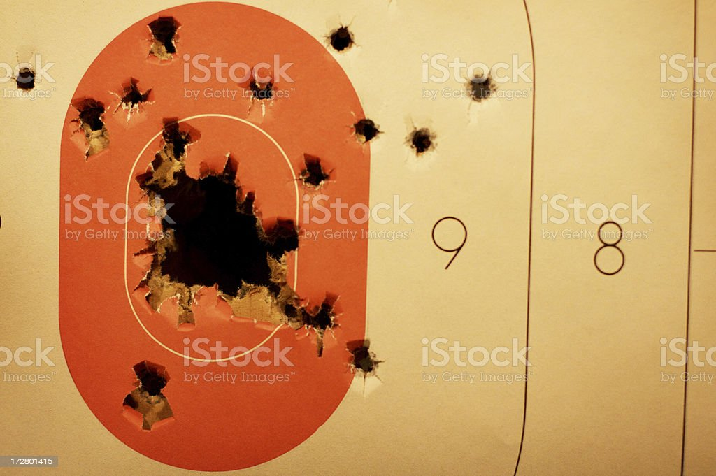 Paper Target royalty-free stock photo
