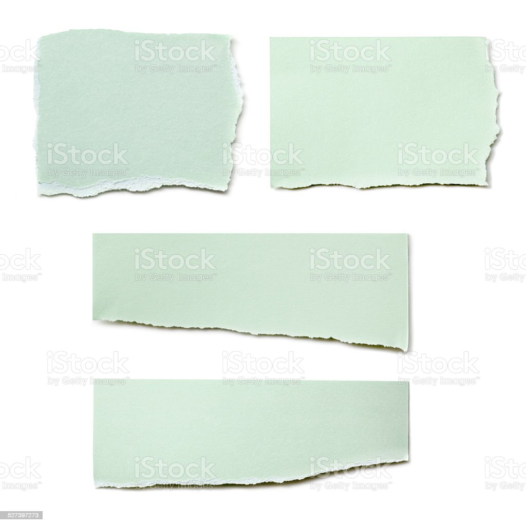 Paper Tears Collection Isolated stock photo